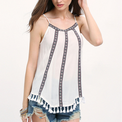 New Arrival Ladies Casual Chifon Sexy Summer Sleeveless Tops For Women Vintage Clothing