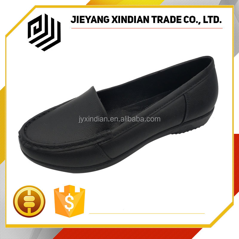 England Style PU new latest design woman leather shoes wholesale