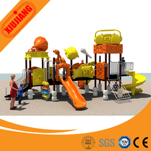 2017 amusement park children customized large outdoor combined Spiral slides playground