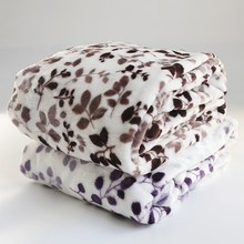 Super Soft Printed Leaf Flannel Fleece air conditioner Blanket throw for/on/to bed sofa couch
