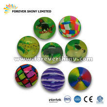 Wholesale Promotional Crane Capsules Small Toys Candy Marble 42mm Rubber Bouncing Ball for Vending Machines
