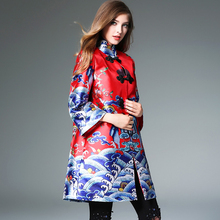 Vintage Dress Slim Fit Long Sleeve Cheongsam Dress For Women Custom Clothing Brand