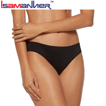 Ladies girls sexy seamless black underwear panties from China