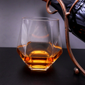Slant Crystal Whisky glass,creative square whisky glasses.