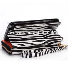 Lady Wallet Wristlet 2 in1 Clutch Stand Case for Samsung Galaxy Note II
