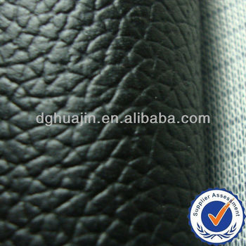 Black PVC leather, knitted embossed pvc sofa leather