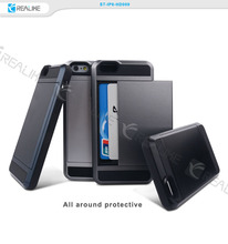 Alibaba hot sale full protective hidden card combo case for iphone 6case