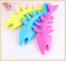 Fish Bone Pet Dog Chew Toys Safe Rubber Molar Tooth Puppy Cat Toys brinquedos