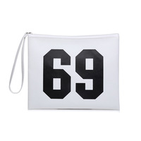 New Design Letter Print Waterproof PVC Women Clutches Bags with competitive price