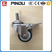 stainless steel 304 small removable wheelchair screw type caster wheels