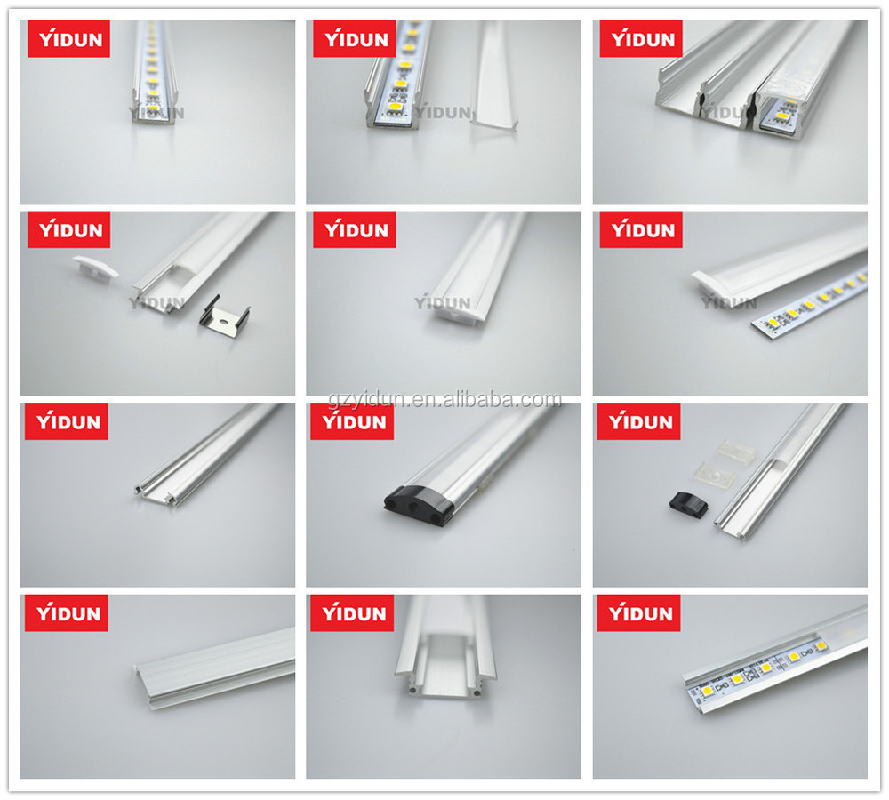 China made Flat Aluminum Profile Kit for 8MM or 10MM Flexible LED