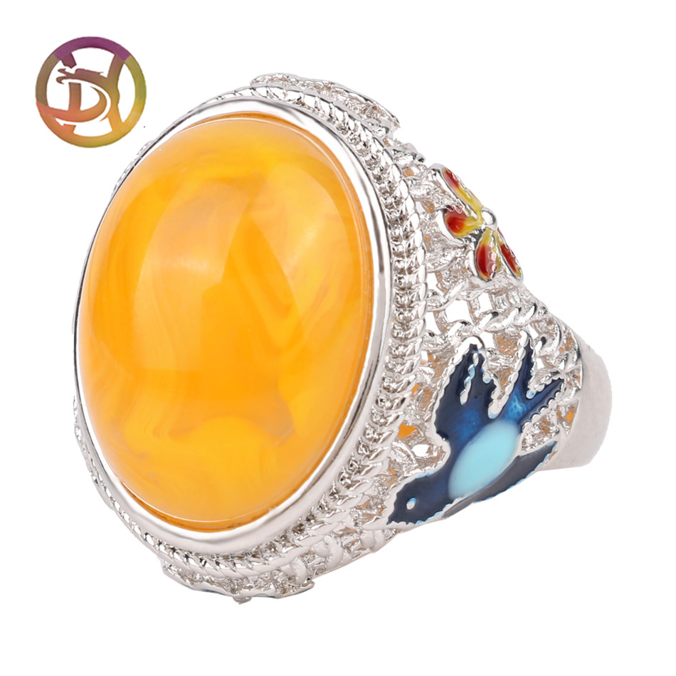 Wholesale Gemstone Women Jewelry Mix Lots 925 Sterling Silver Engagement Ring Big Stone Wedding Rings