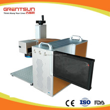 20W fiber color laser marking machine for colorful marking on stainless steel and black marking
