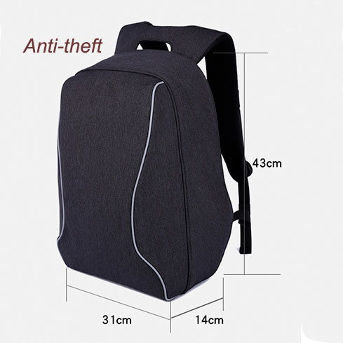 Polyester Oxford Fashion Leisure Anti Theft Backpack Laptop Bags for 15'' 16''