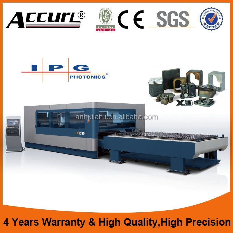 High precision M3015C 500w sheet metal laser cutter for 5mm carbon steel