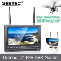 "1000cd/m2 high brightness video recording function 7"" lcd screen 2200mah li battery 5.8GHz receivers rc helicopter toy"