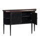 Classical antique vintage furniture replica hand painted console stainless copper inlay black side cabinet