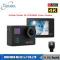 100% Original 4K 24fps double screen Remote Ultra HD Notavek 96660 30M Waterproof Sports Action Camera DVR