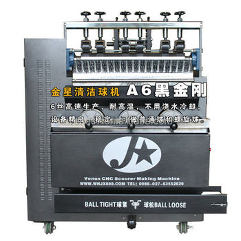 JX-A6 China Venus Full-Automatic Stainless Steel Ball Scourer Scrubber Making machine with Highest Output