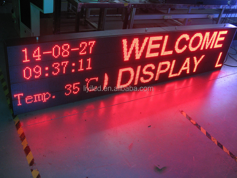 outdoor digital billboard programmable led moving message sign board/ led electronic display