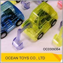 Mini simulation shining plastic excavator toy model pullback cars OC0309364