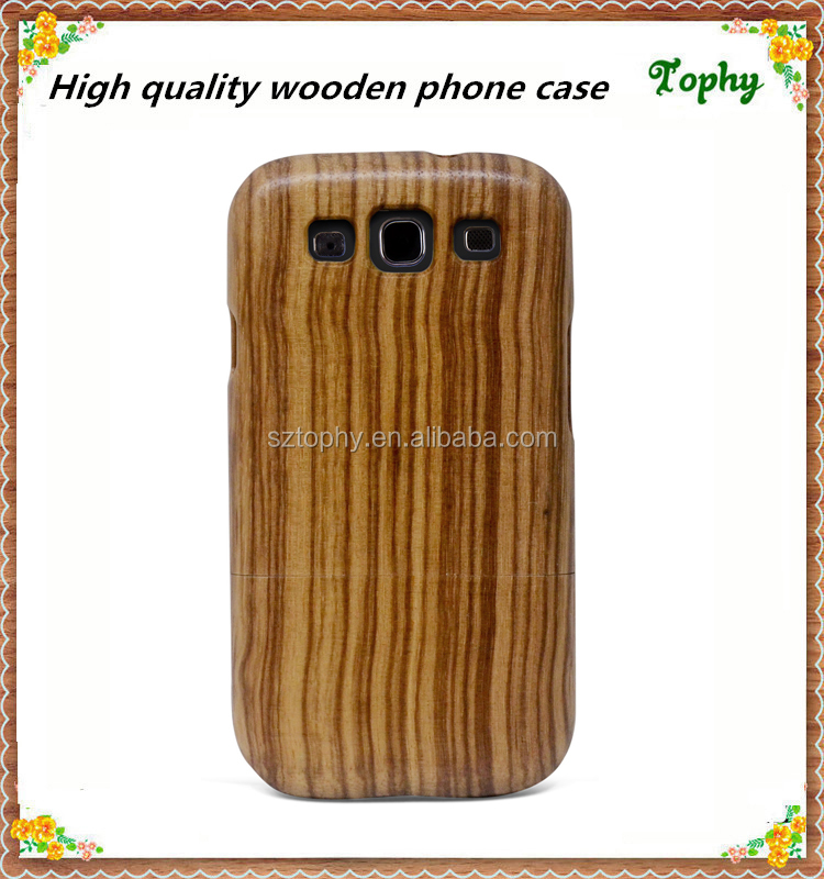 High quality eco-friendly 100% real zebra wood phone case for Samsung Galaxy S3 I9300