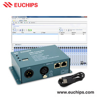 Shanghai Euchips free software 5-5.5vdc usb rgb dmx 512 light controller