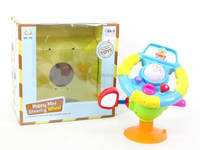 Happy baby light uo toys mini plastic musical steering wheel toy