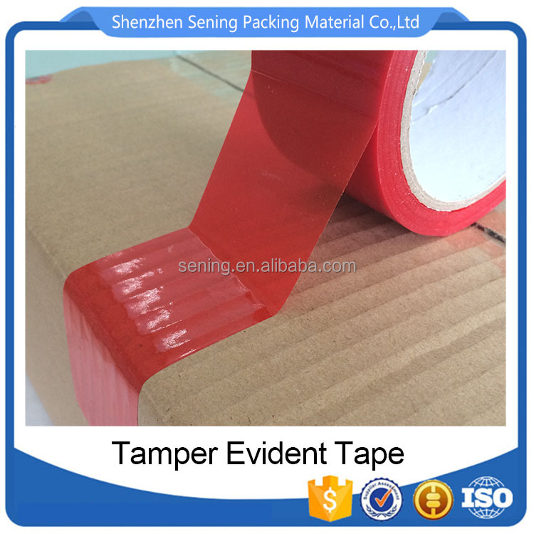 Printing Custom Single Side High Residue Transfer Tape Warning VOID Seal Tape