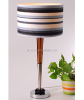 black shade crystal bedside table lamp