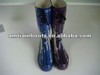 rubber knee high boots