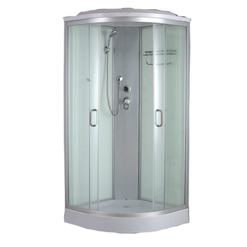 Autme hot sale cheap shower cabin tempered glass 2 sided shower enclosure