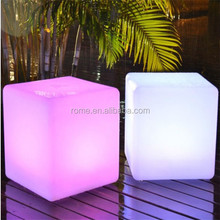 Illuminated flashing color changing led Outdoor Cube Seating