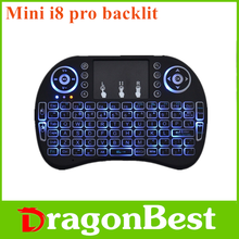 2017 New product Mini i8 Pro air mouse backlit mini wireless keyboard rc11 of China National Standard