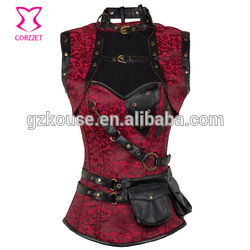 High Quality & Best Price Anti-Bacterial Body Shaping Wiast Trainer leather steel boned corsets