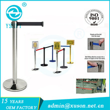 Public Safety Crowd Control Retractable Belt Queue Barriers/Post/Stand