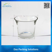 90ml heat resisting borosilicate glass candle jars with metal lids