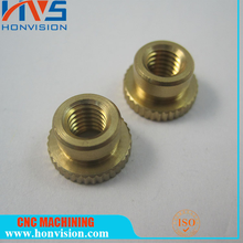 Brass turned parts / CNC turning lathe CNC custom anodized cylinder liners / CNC OEM service