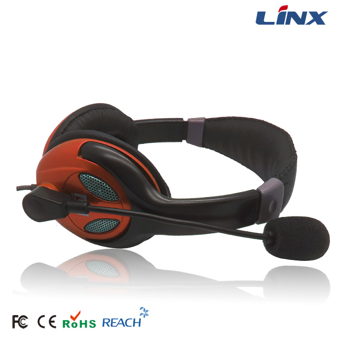 Best Call Center Headphone Gaming Headset With Dual 3.5 mm Stereo Jacks
