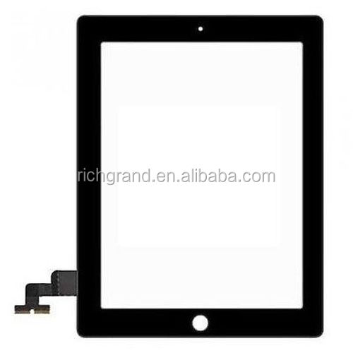 For APPLE IPAD 2 NERO BLACK VETRO + TOUCHSCREEN TOUCH SCREEN x DISPLAY LCD ORIGINALE