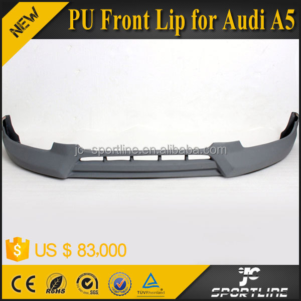 JC Sportline PU Material RJ Style Front Lip for Audi A5 2D 2013