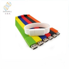 Bulk Waterproof Custom Silicone Bracelet Wrist Band Wristband Usb Stick Drives 1Gb Usb Flash Drive/Pen Drive/Pendrive
