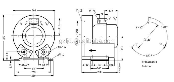 Miniature Regenerative Blowers : Mini w wast aeration regenerative air blower buy