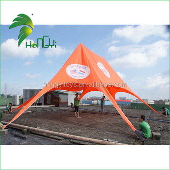 Activity Used Large 12*8M Printing Promotion Double Peaks Design Star Shade Tent