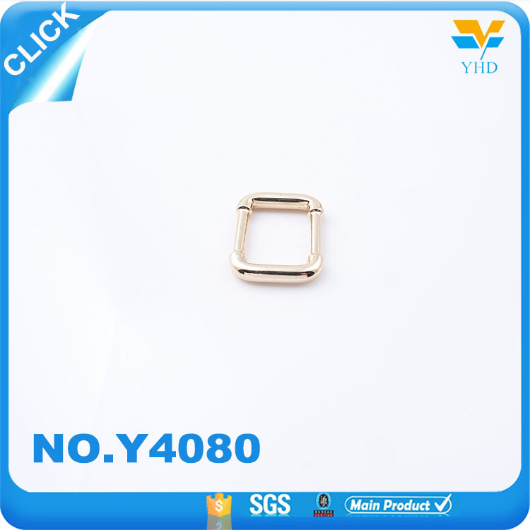 Design popular fashion handbag accessories zinc alloy accessories square ring