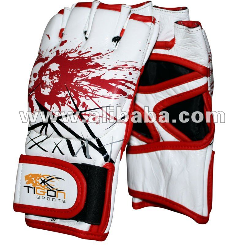MMA Grappling Leather Fight Gloves