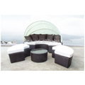 Sigma aluminium garden furniture round cane bed outdoor daybed for sale