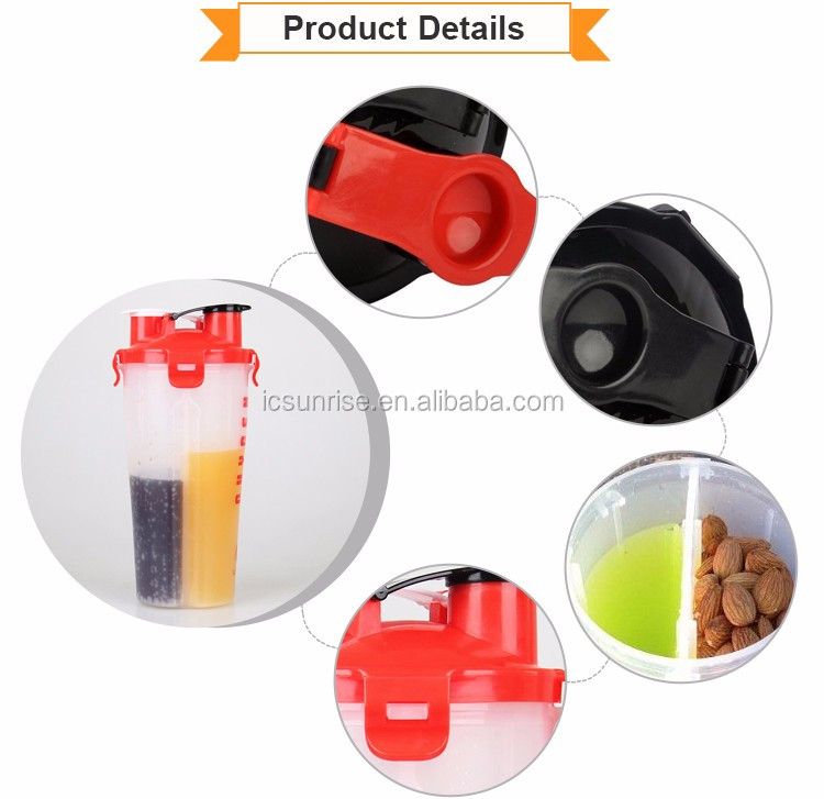 The new 2017 wholesale portable shaker bottle with CE certificate