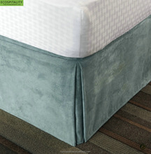 Five Star Hotel 100% Polyester Decorative Fireproof Fitted Bed Skirt
