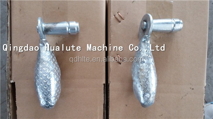 Hand made classical design galvanized wrought iron door handle